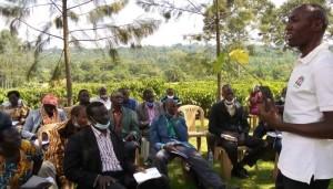 Q& A session at Luguzi farm in Namayumba