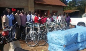 PM hands over CBT bicycles to Coop. leaders in Caritas Kampala